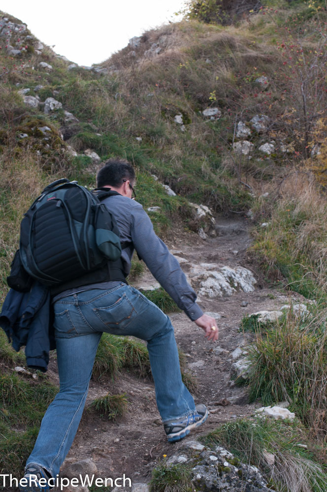 Rocca Calascio fortress hike up Jeff shortcut