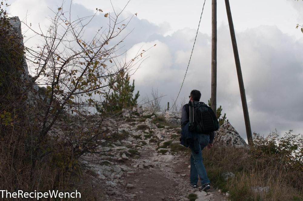 Rocca Calascio fortress hike up