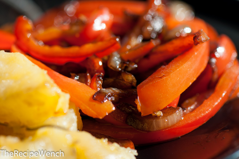 Red Peppers, Onions and Balsamic