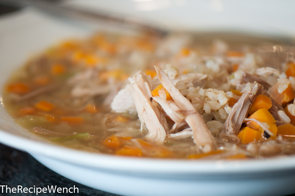 Turkey Soup with Brown Rice