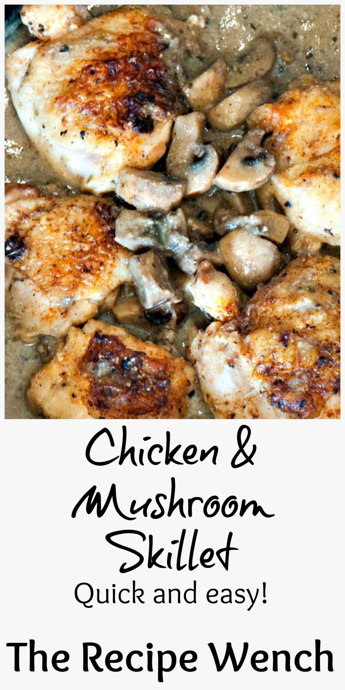 Chicken Mushroom Skillet is a easy meal -- perfect for weeknights! | The Recipe Wench