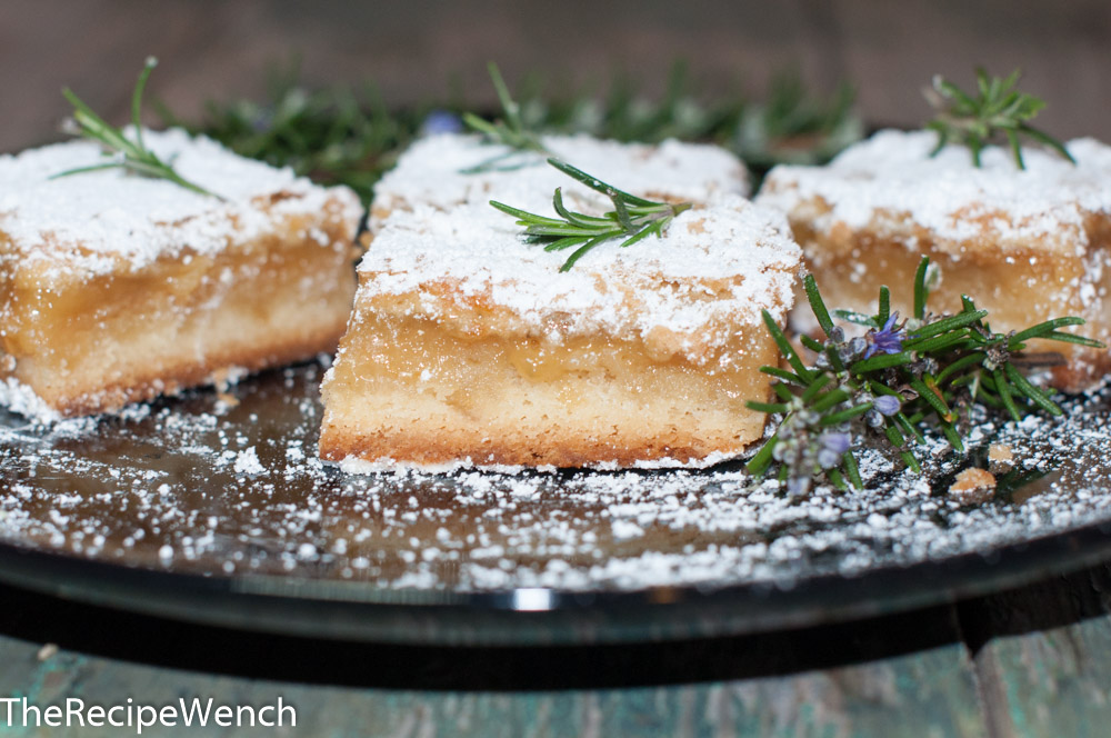 Rosemary-lemon bars