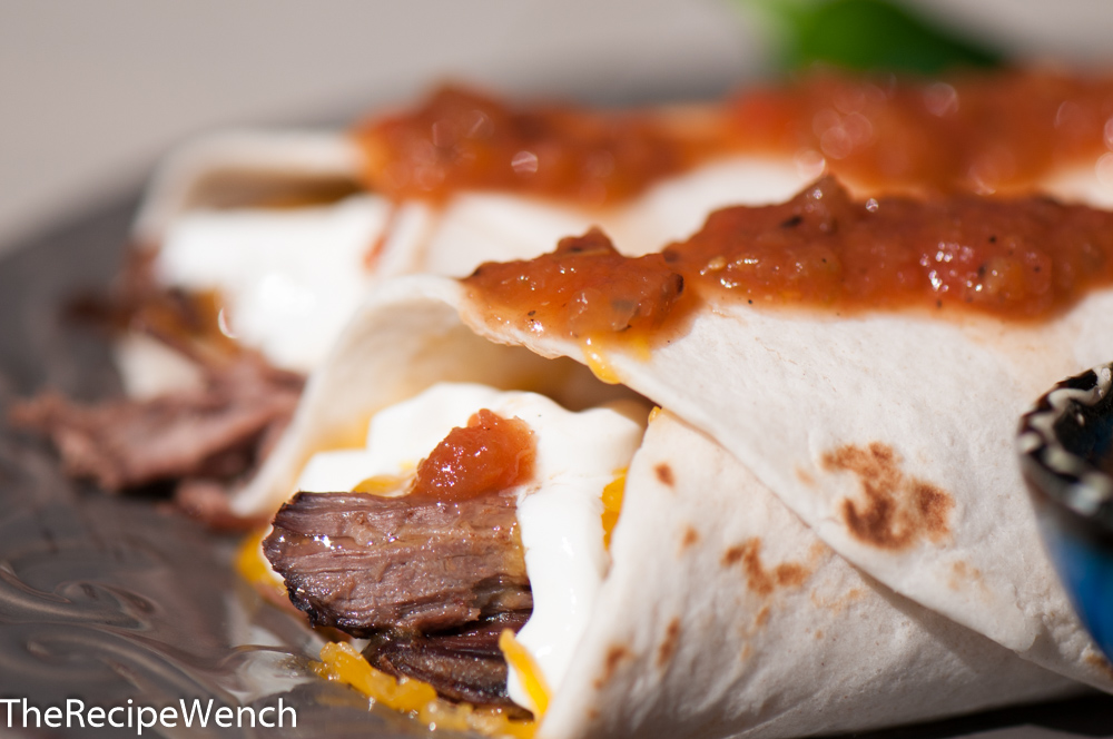 Crock-Pot Shredded Beef Burritos