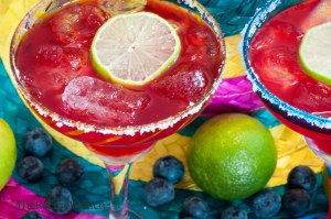 Blueberry Margaritas for Two