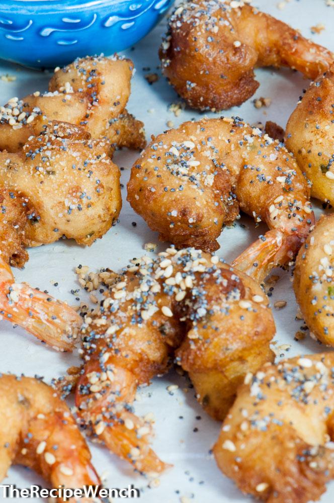 Everything Seeded Shrimp Appetizer