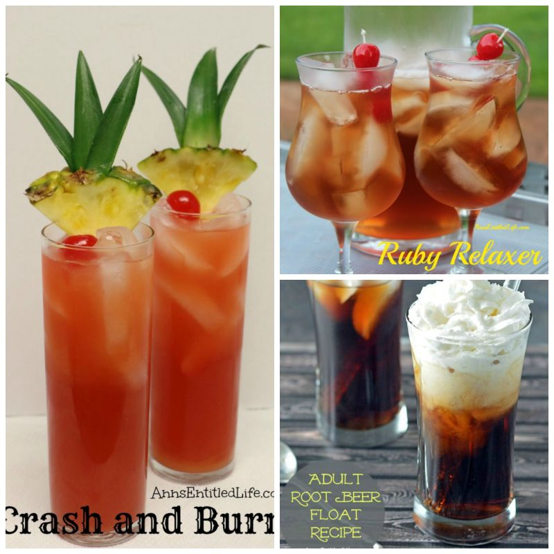 Crash burn ruby relax root beer collage