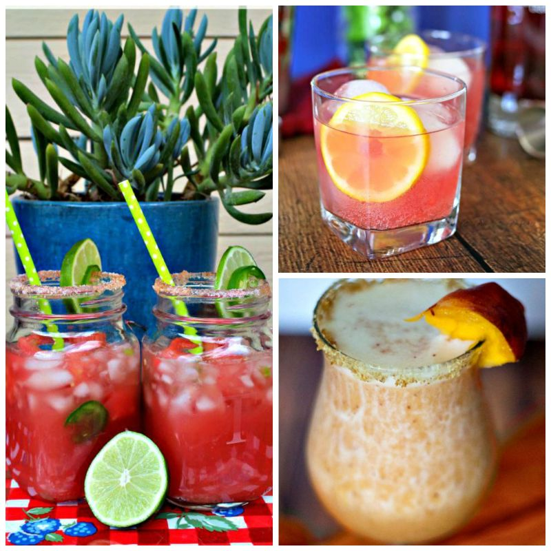 watermelon marg pomegranate peach marg collage