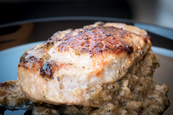 Herb Stuffed Pork Chops