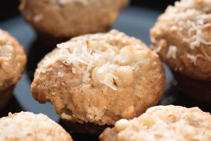 Coconut Macadamia Nut Muffins
