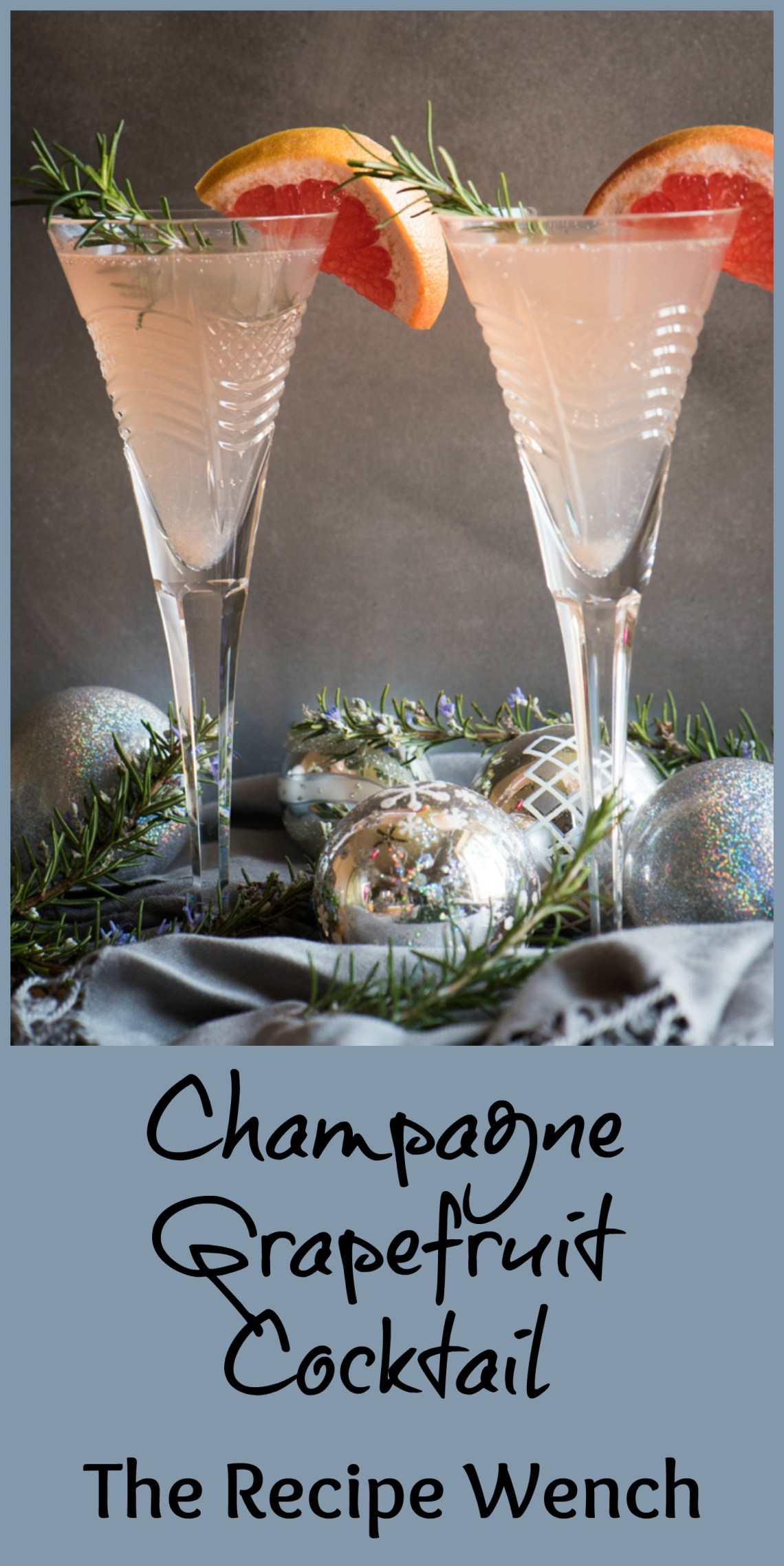 Champagne Grapefruit Cocktail - Just 4 ingredients in this palate-pleasing beverage! | The Recipe Wench