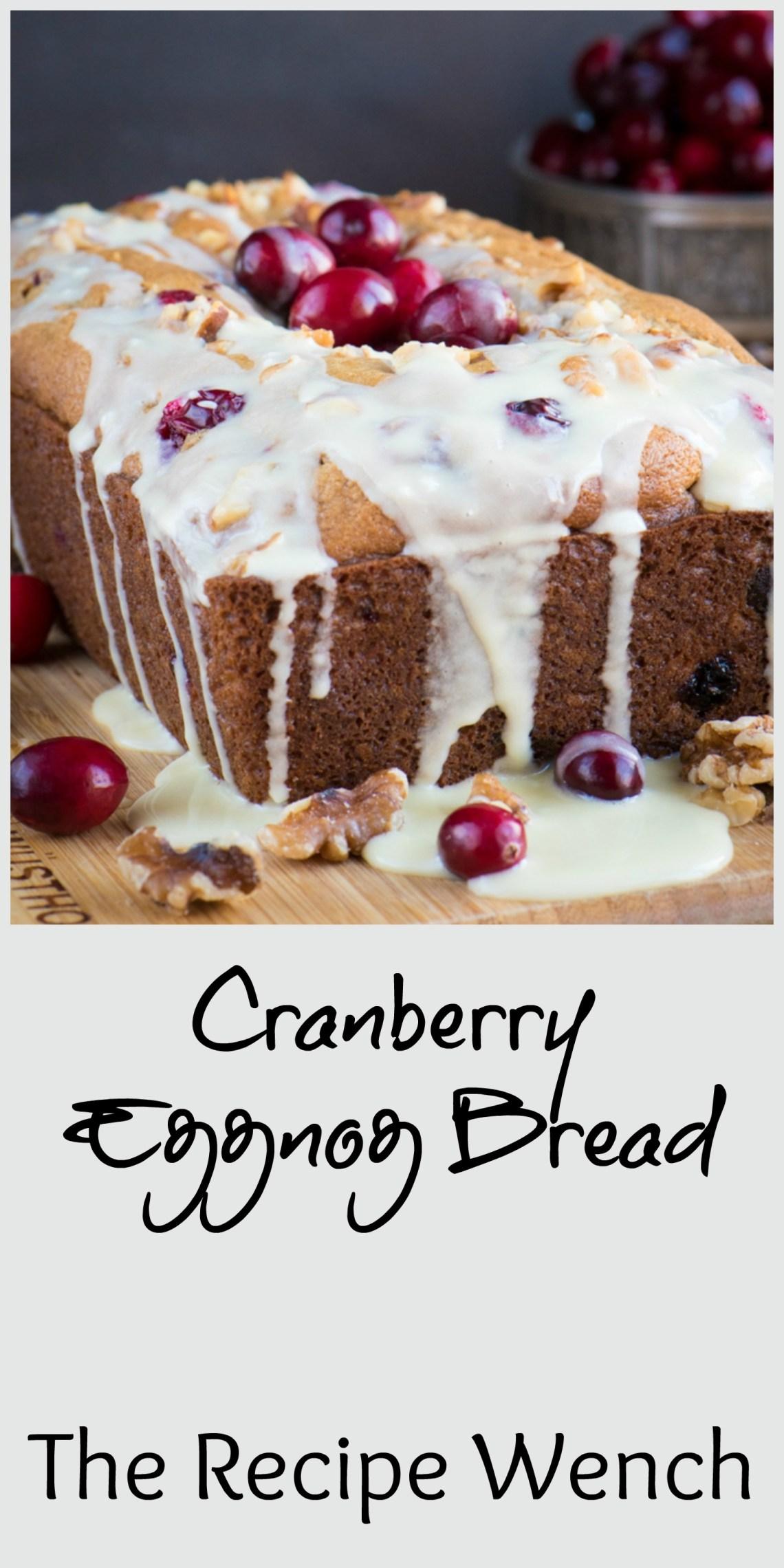 Cranberry eggnog bread with a heavenly eggnog glaze | The Recipe Wench