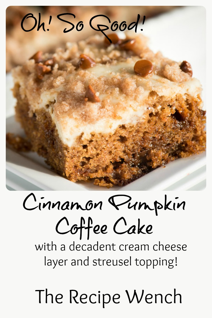 This cake! The cream cheese layer is so good I just want to grab a spoon and go to town! Don't wait for fall -- pumpkin's good year-round! | The Recipe Wench