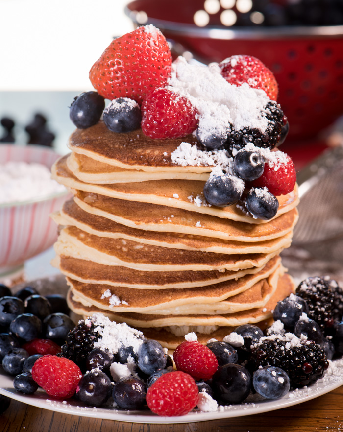 Ricotta pancakes are tender and rich. You'll love these! | The Recipe Wench