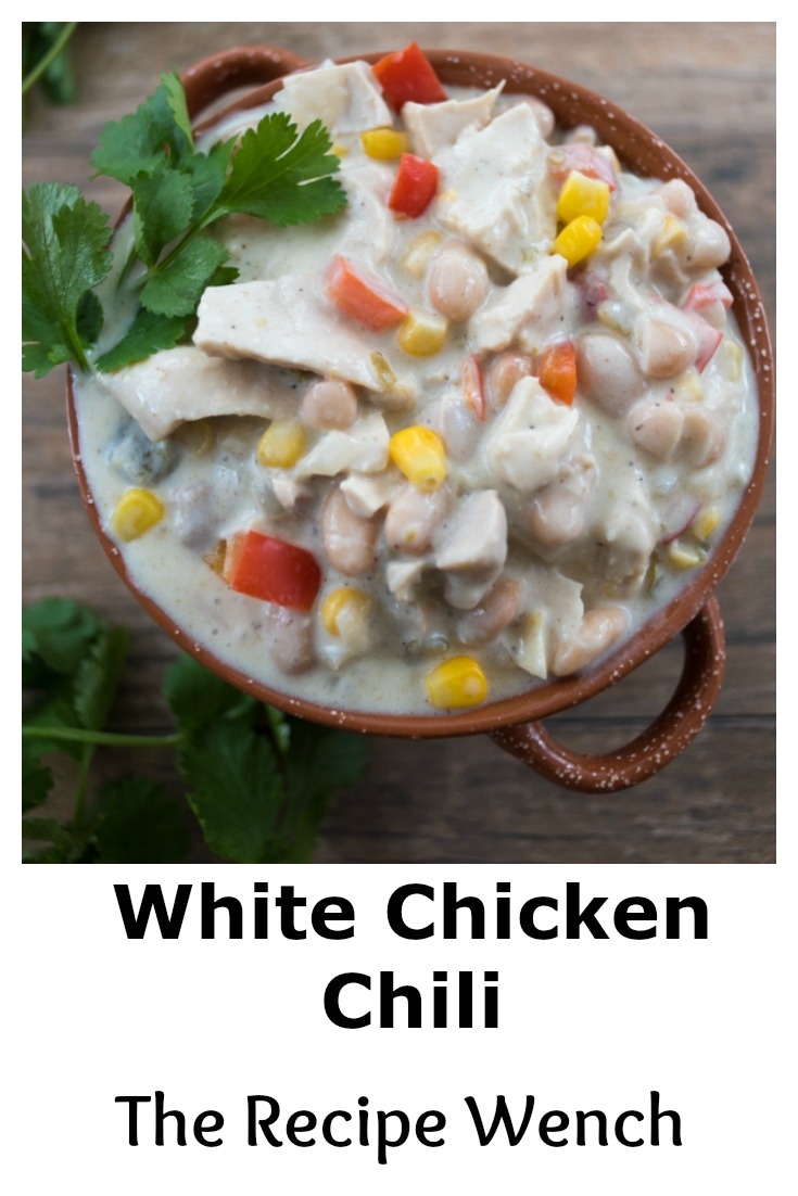 Chase the winter chills away with easy, Game Day favorite, White Chicken Chili! | www.therecipewench.com