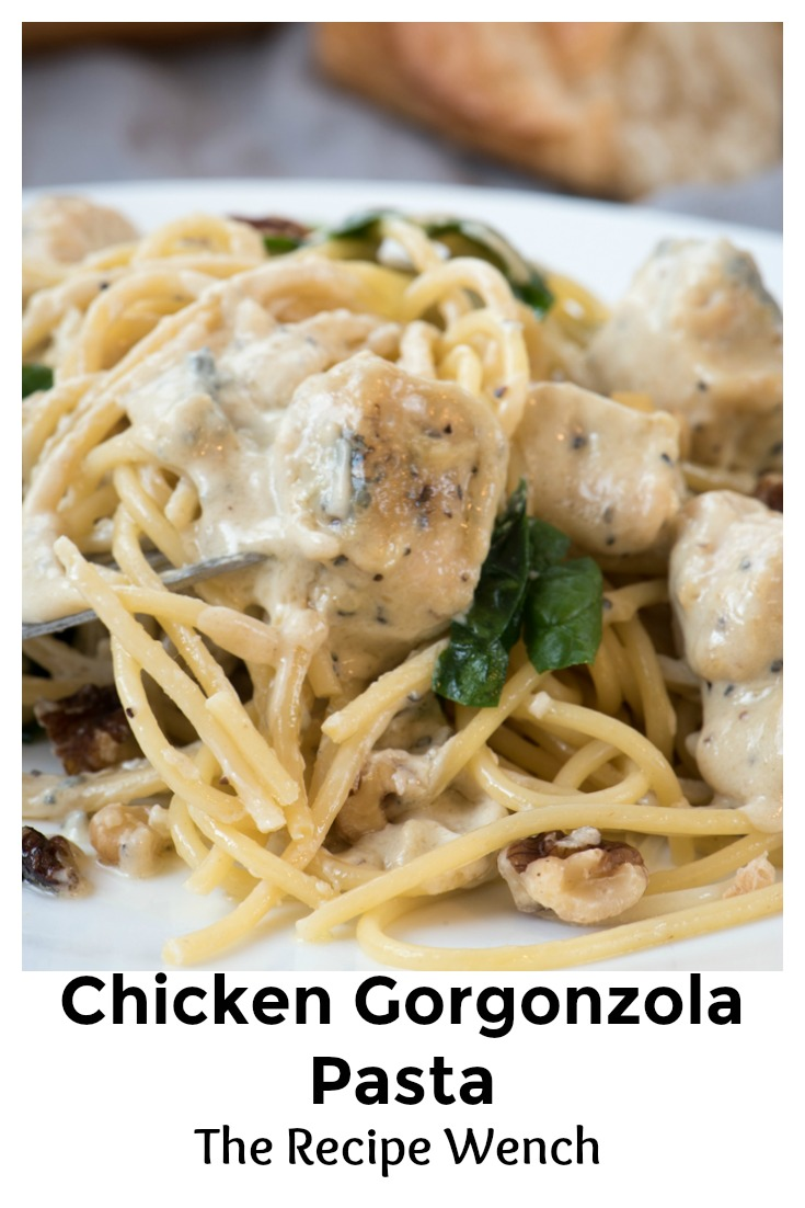 I was surprised how easy Creamy Gorgonzola Pasta Sauce was to make! The cheese does all the work. Shhh, it's our secret! | The Recipe Wench