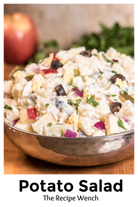 This potato salad has everything -- creamy, crunchy, salty, sweet. My absolute favorite potato salad recipe! | The Recipe Wench