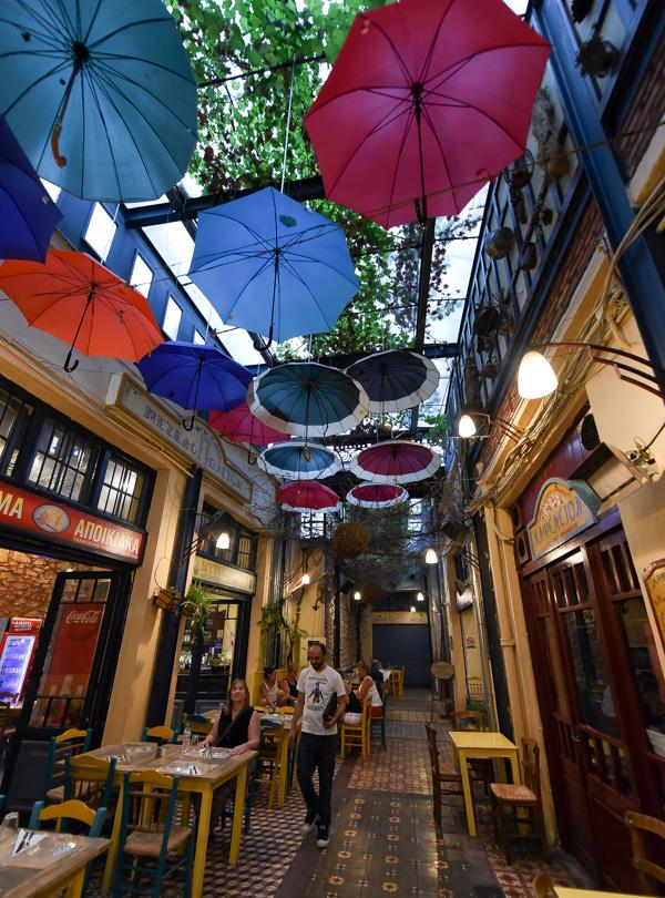 Greece and Santorini trip - adorable restaurant in Athens