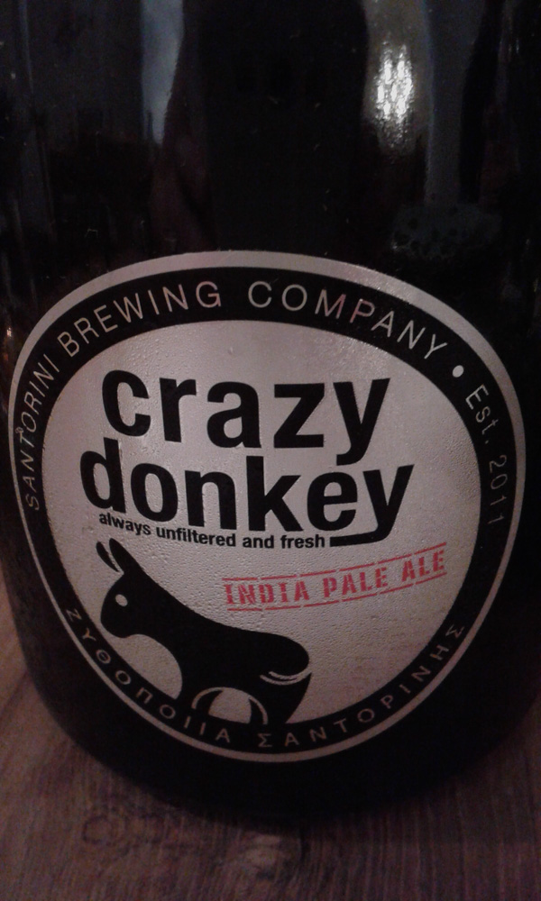 Greece and Santorini - Crazy Donkey beer