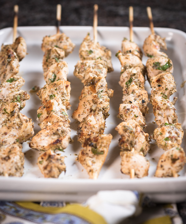 Greek Chicken Skewers - so easy to make. What flavor!