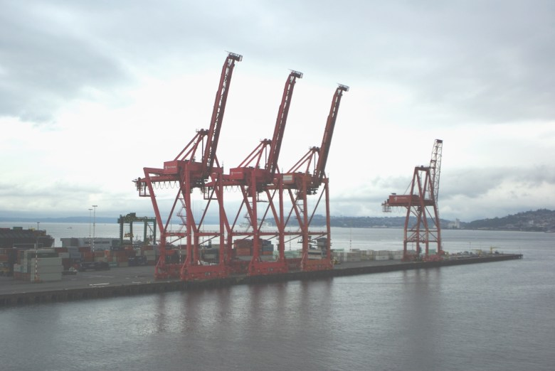 Cranes at the Seattle Docks