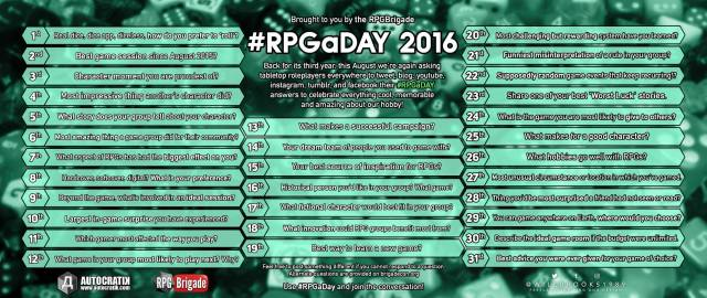 RPG a Day 2016 image
