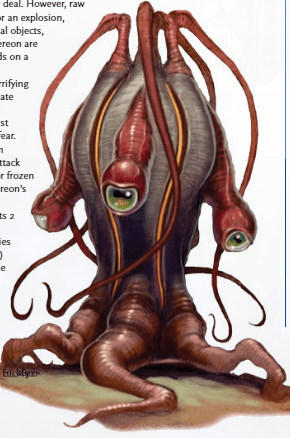 Extereon from the Bestiary. A pod creature with tentacles and eyes on stalks