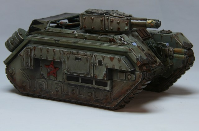 Devil Dog tank with large gun pointing forward