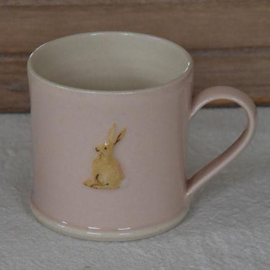 Jane Hogben Espresso Sitting Hare Pink