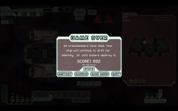 FTL Faster Than Light Screenshot Wallpaper Game Over