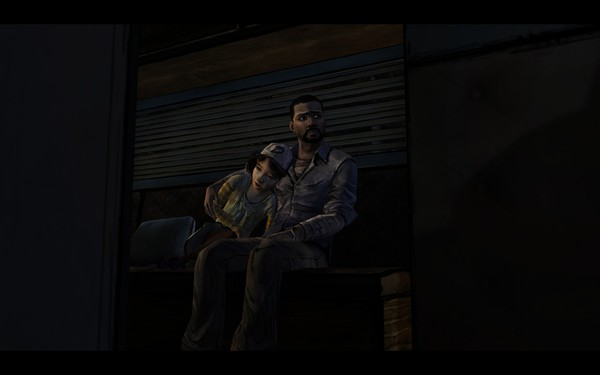 The Walking Dead Screenshot Wallpaper Lee and Clementine
