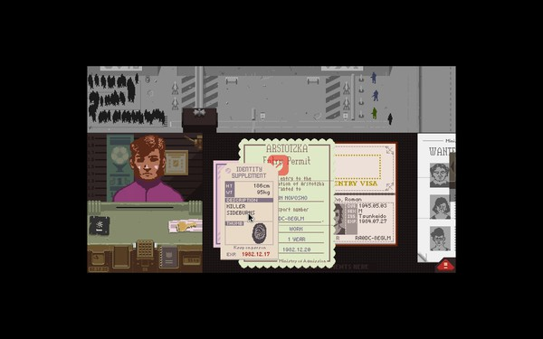 Papers Please Screenshot Wallpaper Killer Sideburns
