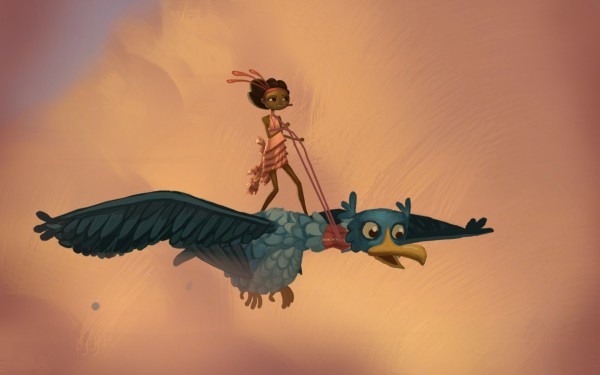 Broken Age Review Screenshot Wallpaper Flight of Jessie