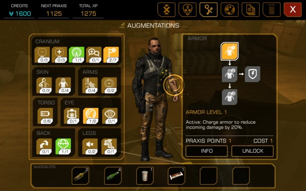 Deus Ex The Fall Review Screenshot Wallpaper Skill Tree