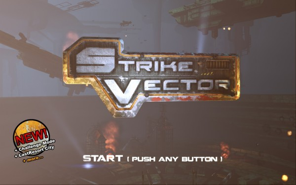 Strike Vector Review Screenshot Wallpaper Title Screen
