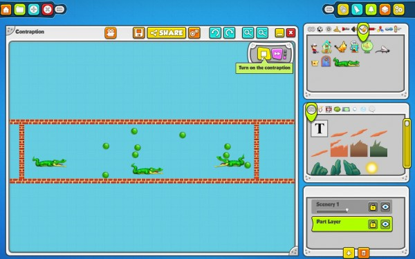 Contraption Maker Review Screenshot Wallpaper BALLS BALLS BALLS