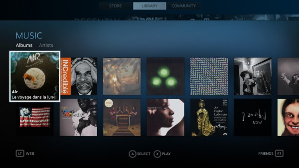 Steam Music UI
