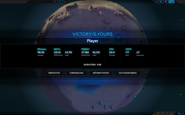 Planetary Annihilation Screenshot Wallpaper Victory