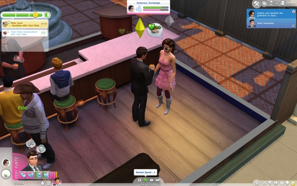 The Sims 4 Review Screenshot Wallpaper Out on a Date