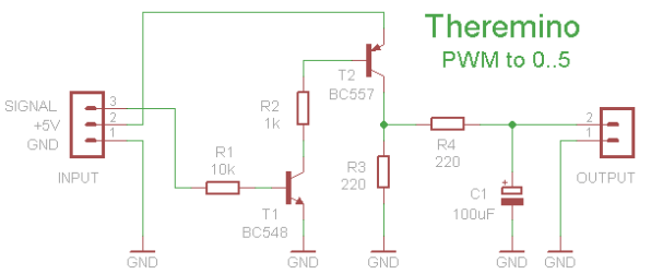 Theremino PWM to 5 Volt