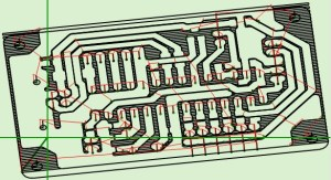 PCB with Theremino CNC