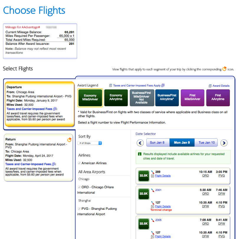 American Airlines - Select Flights