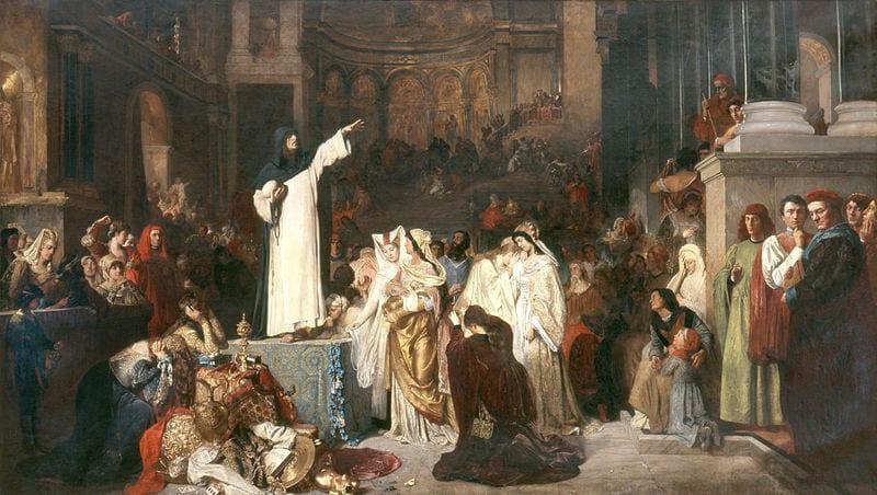 Savonarola preaching in Florence
