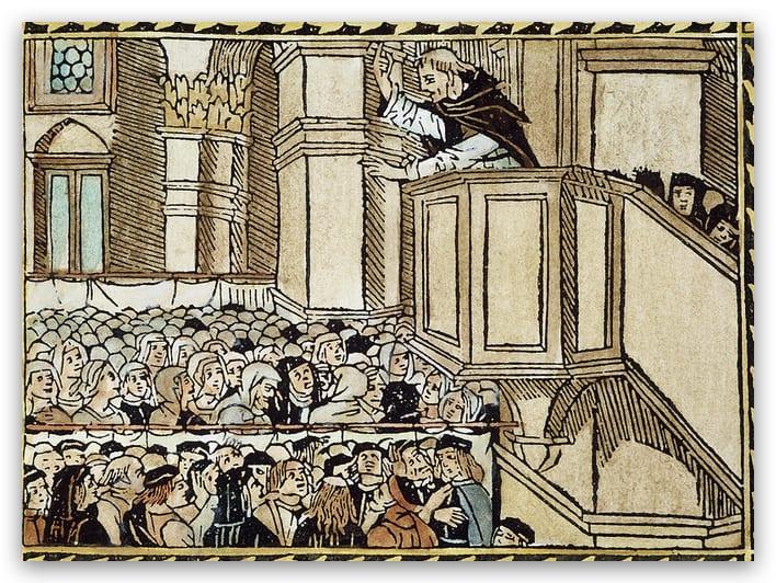 Savonarola preaching in the Duomo