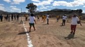 Volleyball, Ikhala Tvet College Students playing against Dicla Staff members