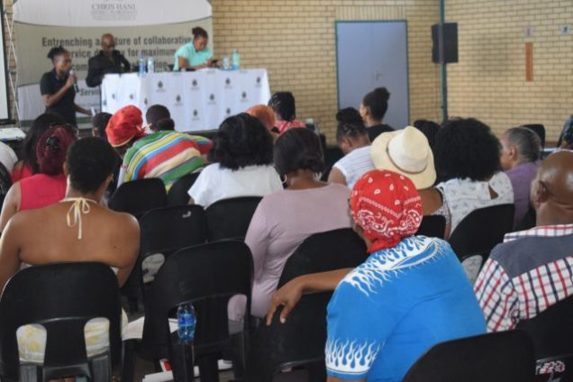 INFORMATIVE SESSION: Service providers gathered at the Thobi Kula Indoor Sport Centre for the Chris Hani District Municipality suppliers' day Picture: ZINTLE BOBELO