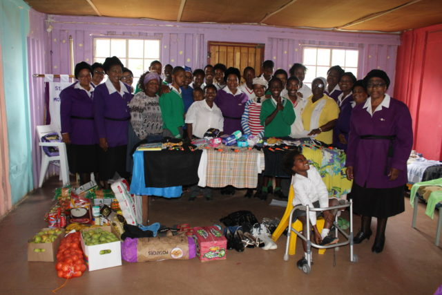 THANK YOU: Khayalethemba Special Care Centre received a donation from the St Andrew's Parish Mothers' Union Picture: ZINTLE BOBELO