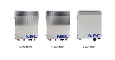 NEC unveil 5G Base Station lightweight and low power