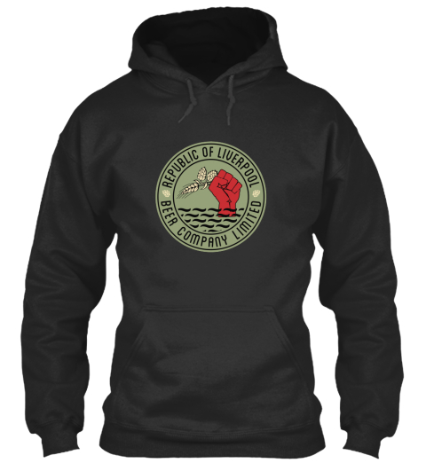 Grey Republic of Liverpool Hoodie with Green Logo