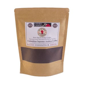 Colombia Supremo Arabica Coffee bag