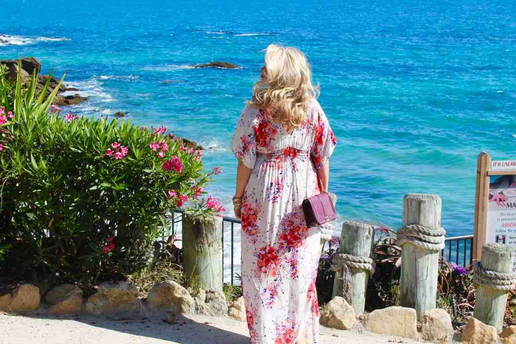 Republic of Rose Summer Style Floral Kimoni Maxi Dress